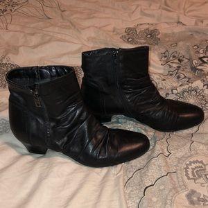Clark's black booties